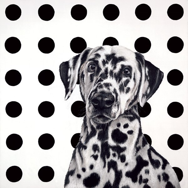 Spot the Dog by Hayley Goodhead - Limited Edition on Paper sized 18x18 inches. Available from Whitewall Galleries